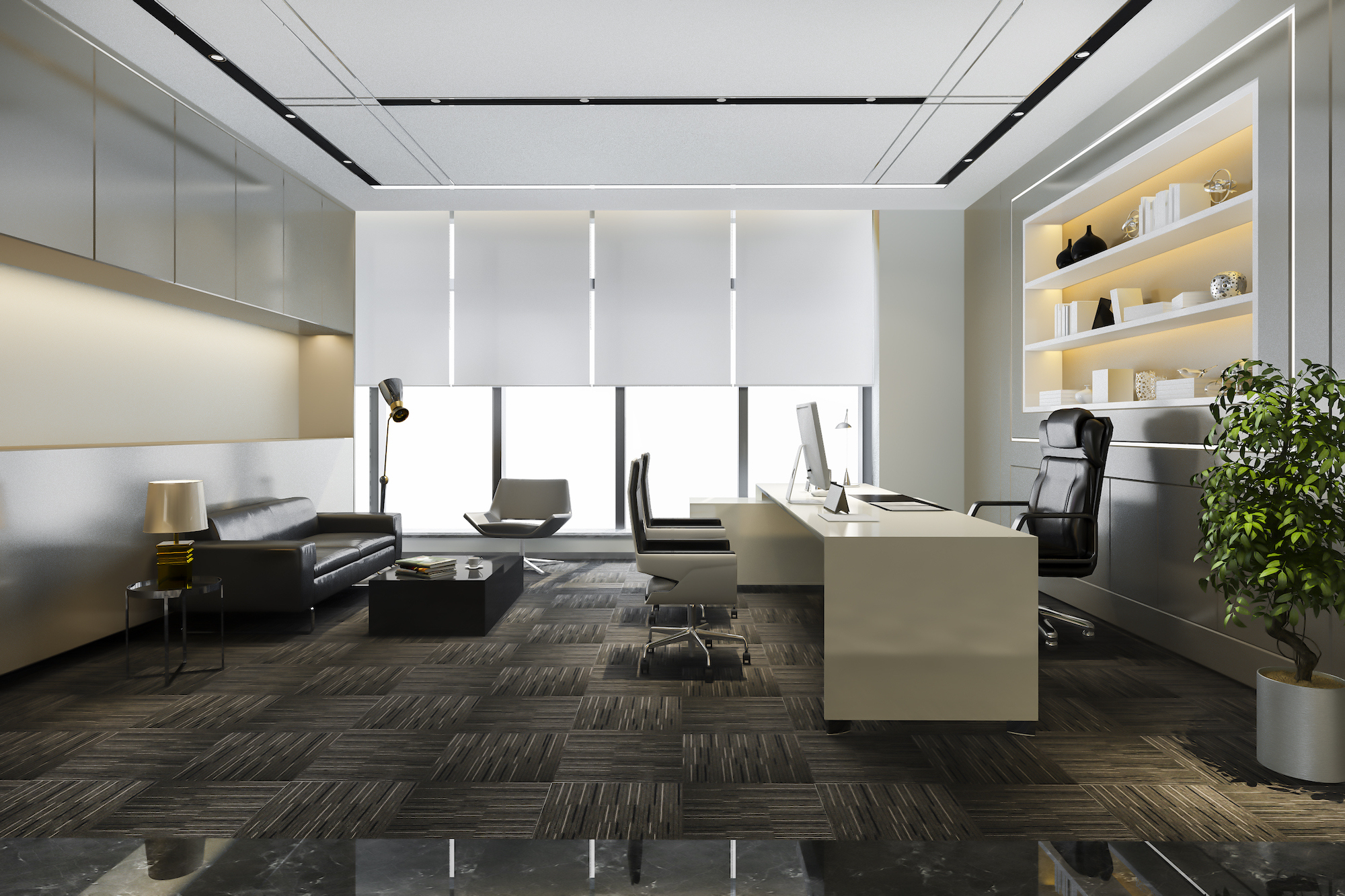 Luxury working room executive office design